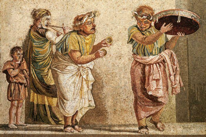 Perkusja w starożytnej Grecji, Etrurii i Rzymie