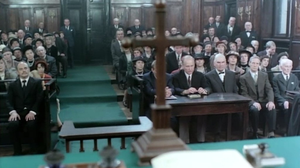 Film Sprawa Gorgonowej - sala sądowa